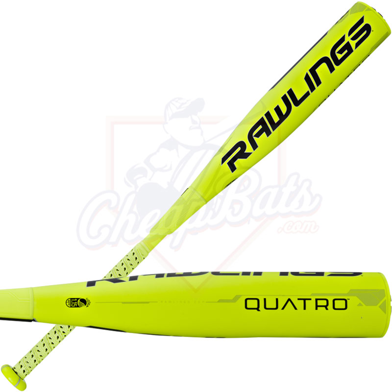 "2017 Rawlings Quatro Youth Big Barrel Baseball Bat 2 3/4"" -10oz SL7Q10"