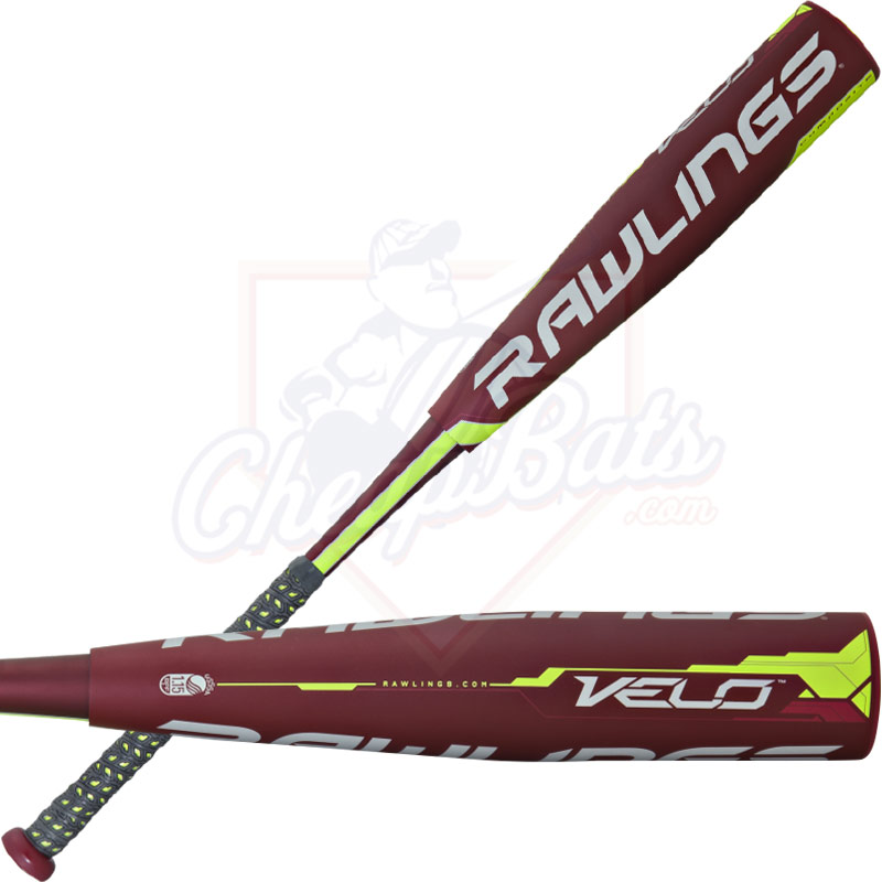 "2017 Rawlings Velo Youth Big Barrel Baseball Bat 2 3/4"" -12oz SL7V12"