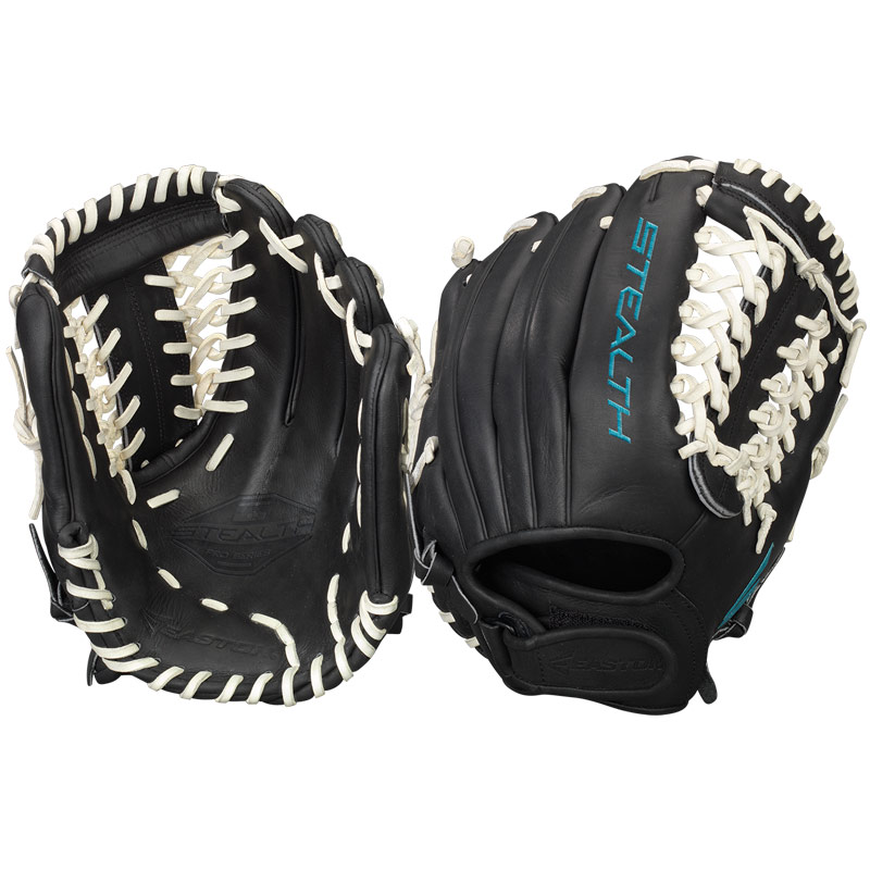 """8ed04b4a71d CLOSEOUT Easton Stealth Pro Fastpitch Softball Glove 12"""" STFP1200BKWH"""