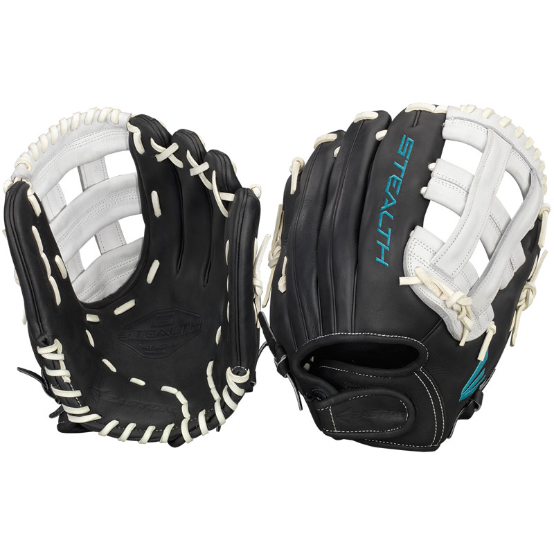 "Easton Stealth Pro Fastpitch Softball Glove 12.25"" STFP1225BKWH"