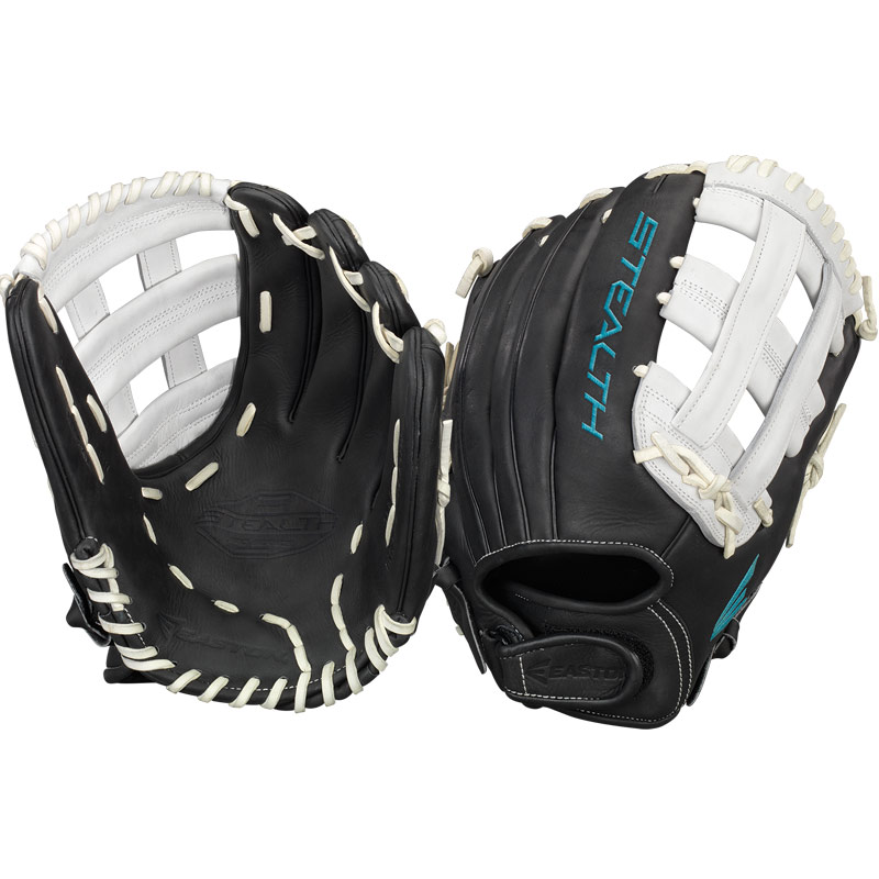 "Easton Stealth Pro Fastpitch Softball Glove 12.75"" STFP1275BKWH"