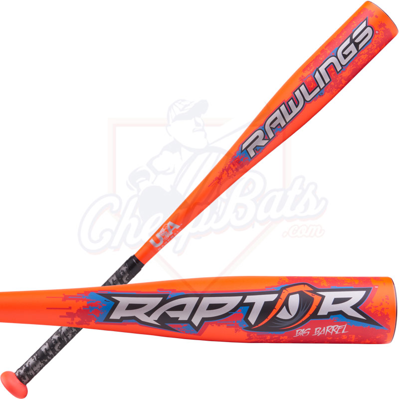 2018 Rawlings Raptor Youth USA Baseball Bat -8oz US8R8