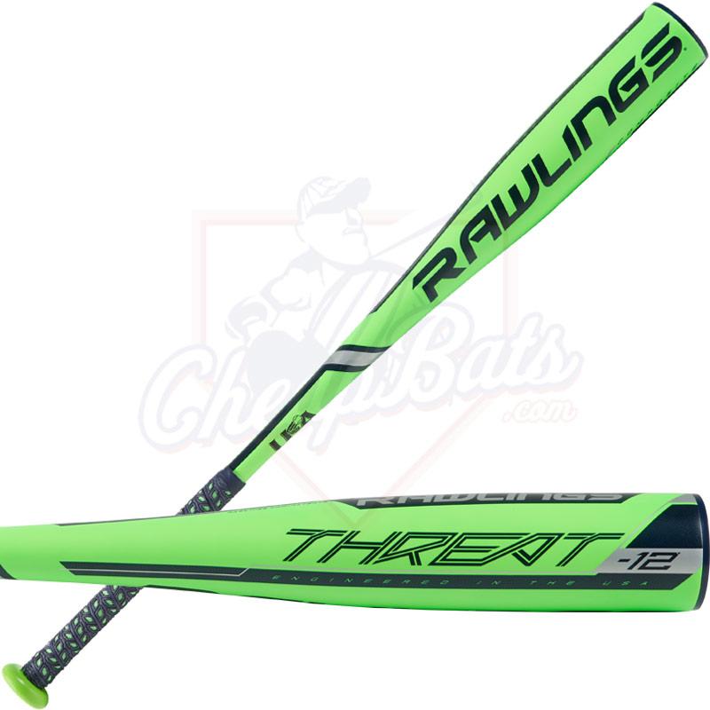 2019 Rawlings Threat Youth USA Baseball Bat -12oz US9T12
