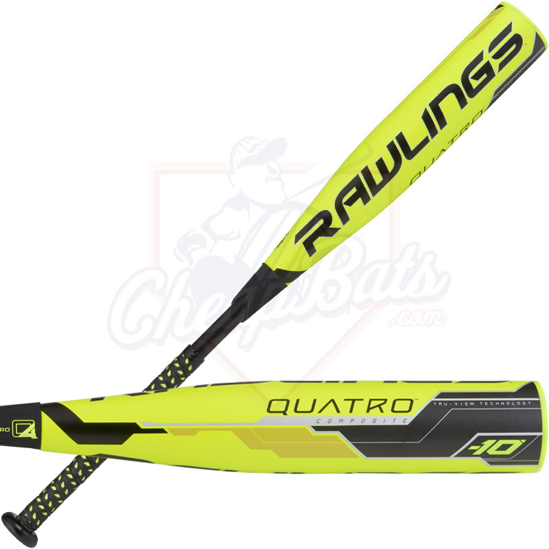 "2018 Rawlings Quatro Youth Big Barrel Baseball Bat 2 3/4"" -10oz UT8Q34"