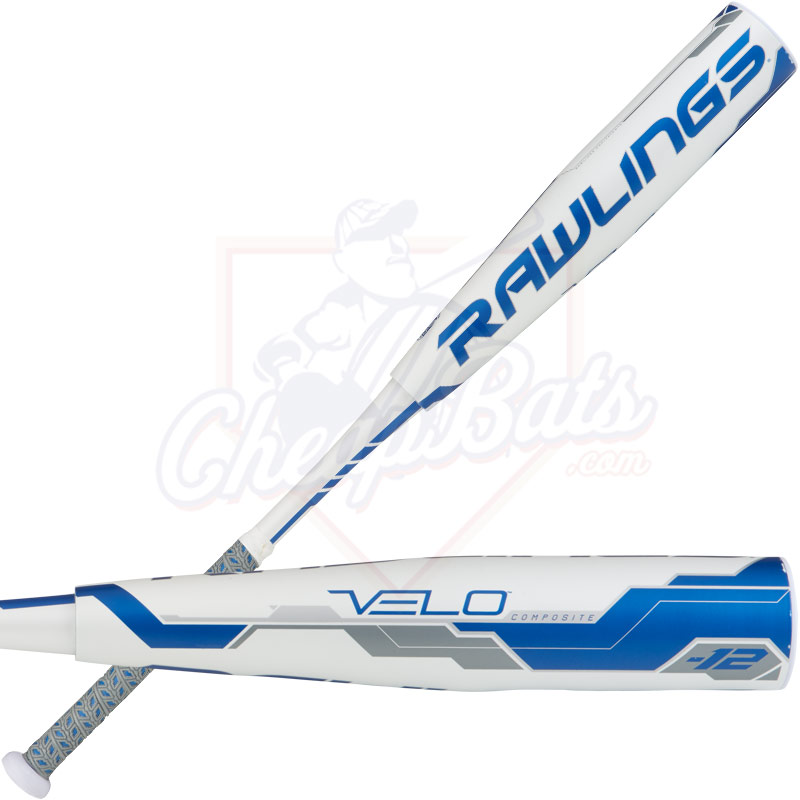 "CLOSEOUT 2018 Rawlings Velo Youth Big Barrel Baseball Bat 2 3/4"" -12oz  UT8V12"