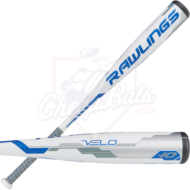 "2018 Rawlings Velo Youth Big Barrel Baseball Bat 2 3/4"" -10oz UT8V34"