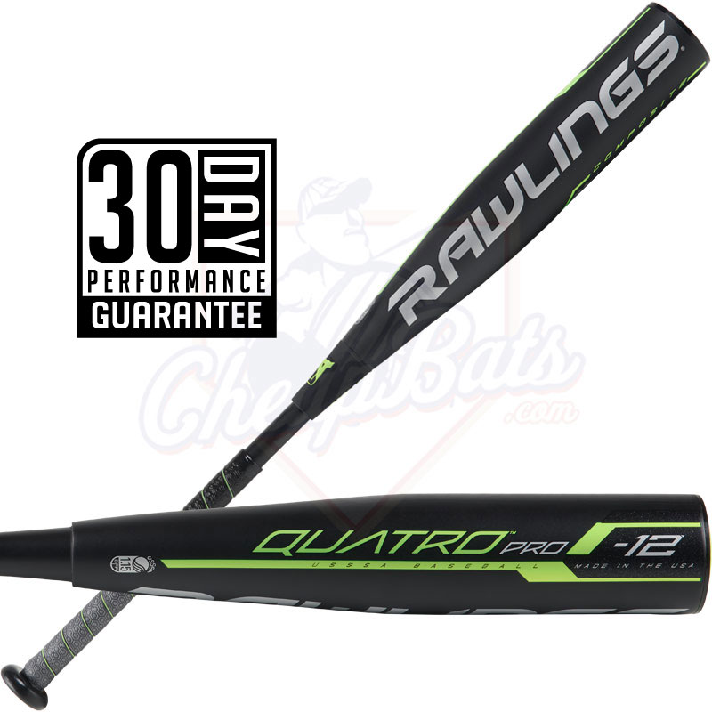 2019 Rawlings Quatro Pro Youth USSSA Baseball Bat -12oz UT9Q12