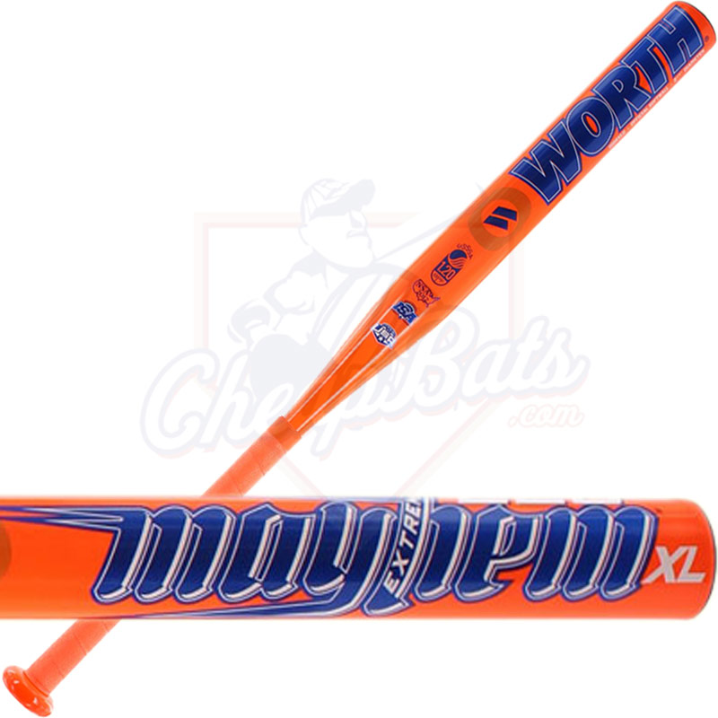 2017 Worth Mayhem 220 Extreme XL Slowpitch Softball Bat End Loaded USSSA W22XLU