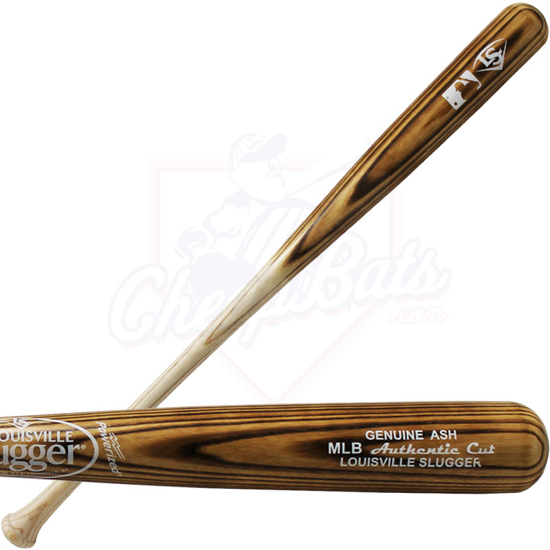 Louisville Slugger MLB Authentic Cut Ash Wood Baseball Bat WBCAMLB-FG