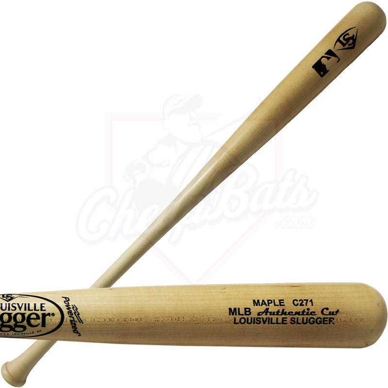 Louisville Slugger MLB Authentic Cut C271 Maple Wood Baseball Bat WBCM271-NG