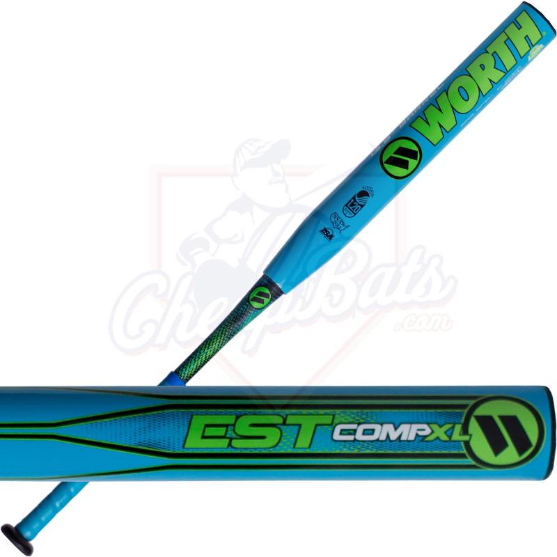 worth est comp xl slowpitch softball bat end loaded usssa westmu