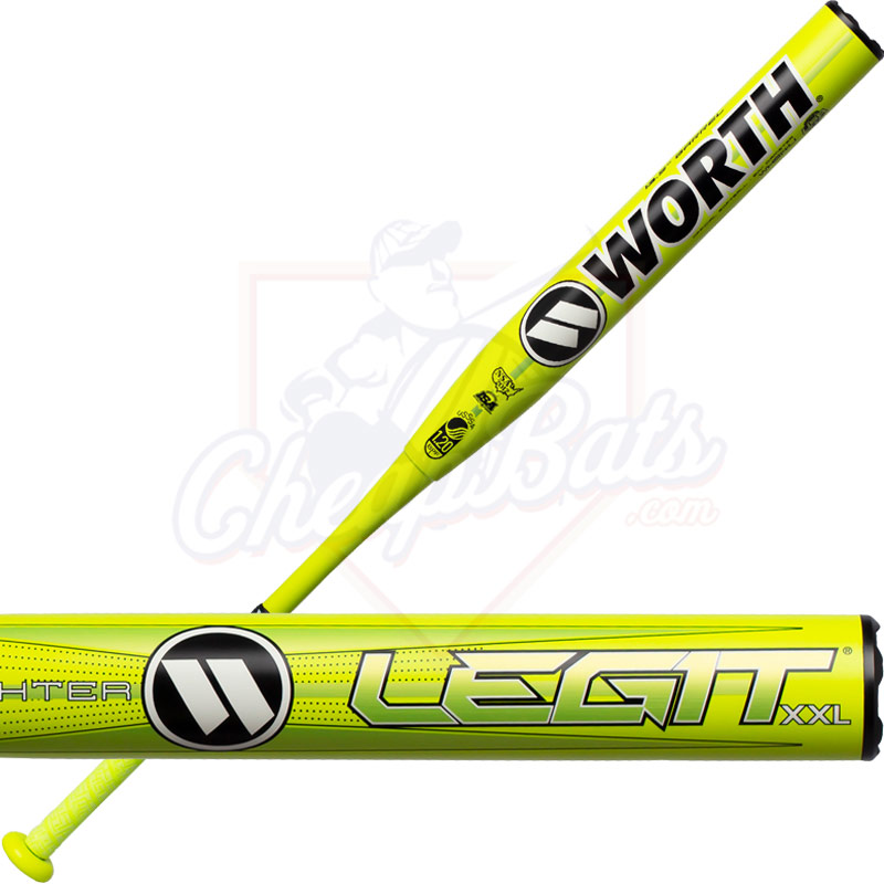 2020 Worth Legit XXL Highlighter Slowpitch Softball Bat End Loaded USSSA WHS14U