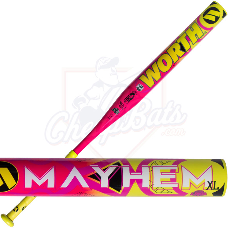 2017 Worth Mayhem XL Slowpitch Softball Bat End Loaded ASA USSSA WMHALL