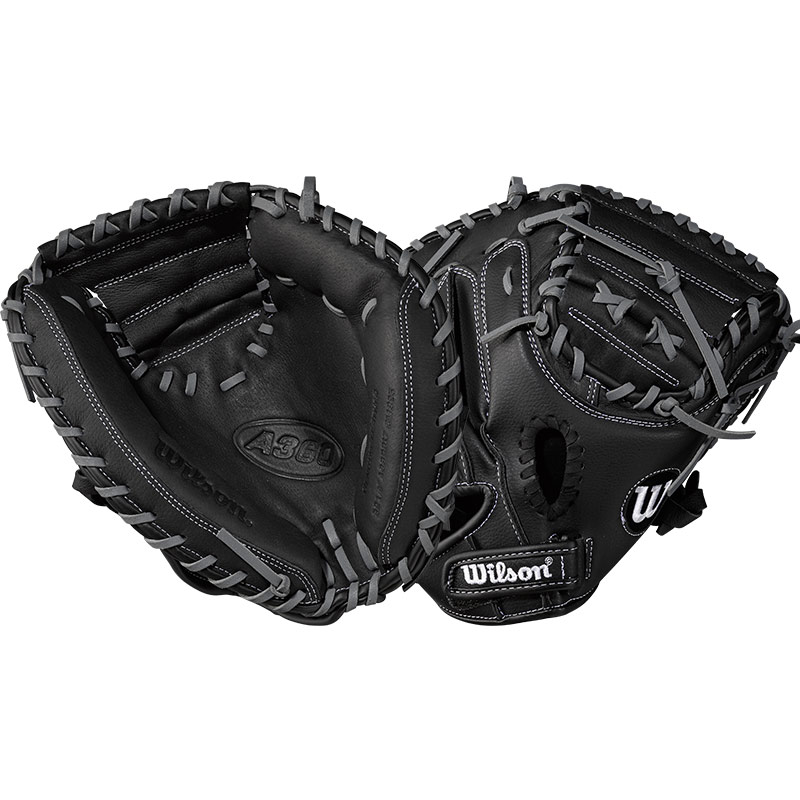 "Wilson A360 Youth Baseball Catcher\'s Mitt 32.5"" WTA03RB17CM325"