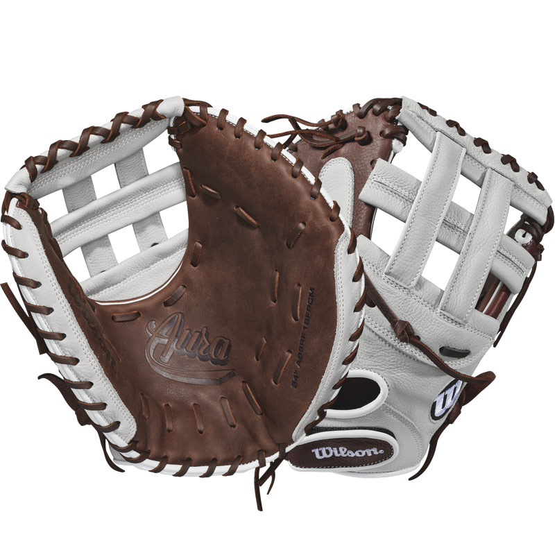 "Wilson A900 Aura Fastpitch Softball Catcher\'s Mitt 34"" WTA09RF18FPCM"