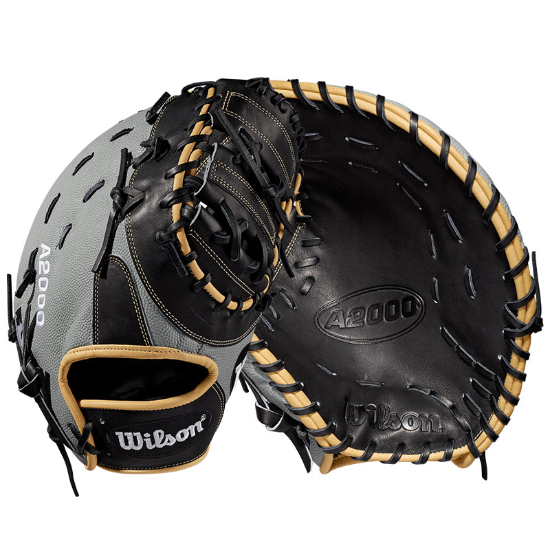 "Wilson A2000 SuperSkin Baseball First Base Mitt 12.5"" WTA20RB191617SS"