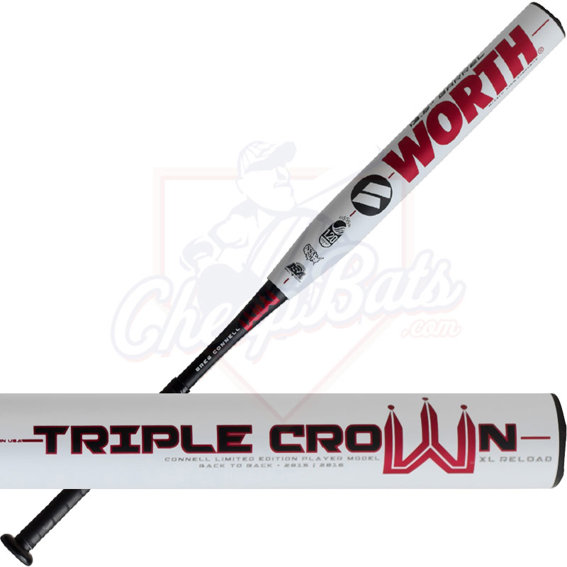2017 Worth Triple Crown XL Slowpitch Softball Bat End Loaded USSSA WTCXLU