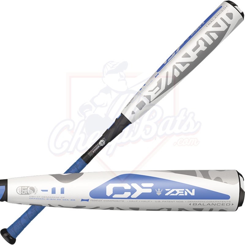 "2017 DeMarini CF Zen Junior Big Barrel Baseball Bat 2 3/4"" -11oz WTDXCBY-17"