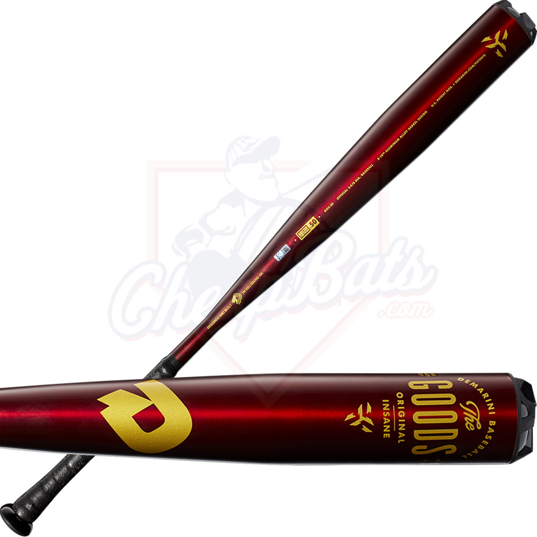 2020 DeMarini The Goods One Piece BBCOR Baseball Bat -3oz WTDXGOC-20