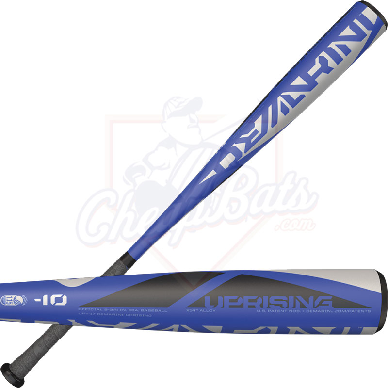 "2017 DeMarini Uprising Junior Big Barrel Baseball Bat 2 3/4"" -10oz WTDXUPY-17"