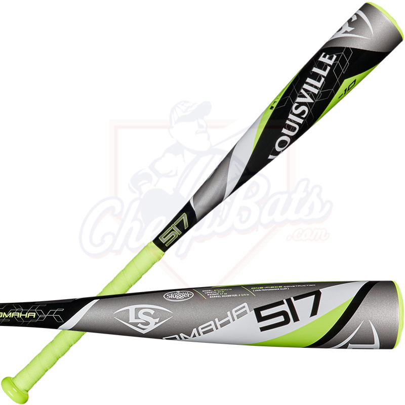 "2017 Louisville Slugger Omaha 517 Junior Big Barrel Baseball Bat 2 3/4"" -10oz WTLYBO517X"