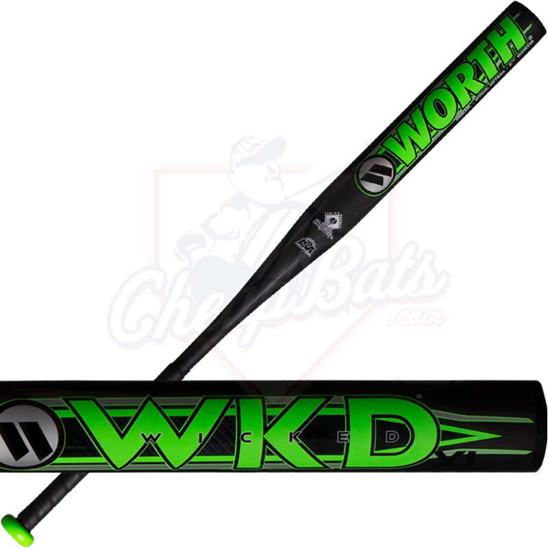 CLOSEOUT 2018 Worth Wicked XL Senior Slowpitch Softball Bat End Loaded  SSUSA WWKDXL