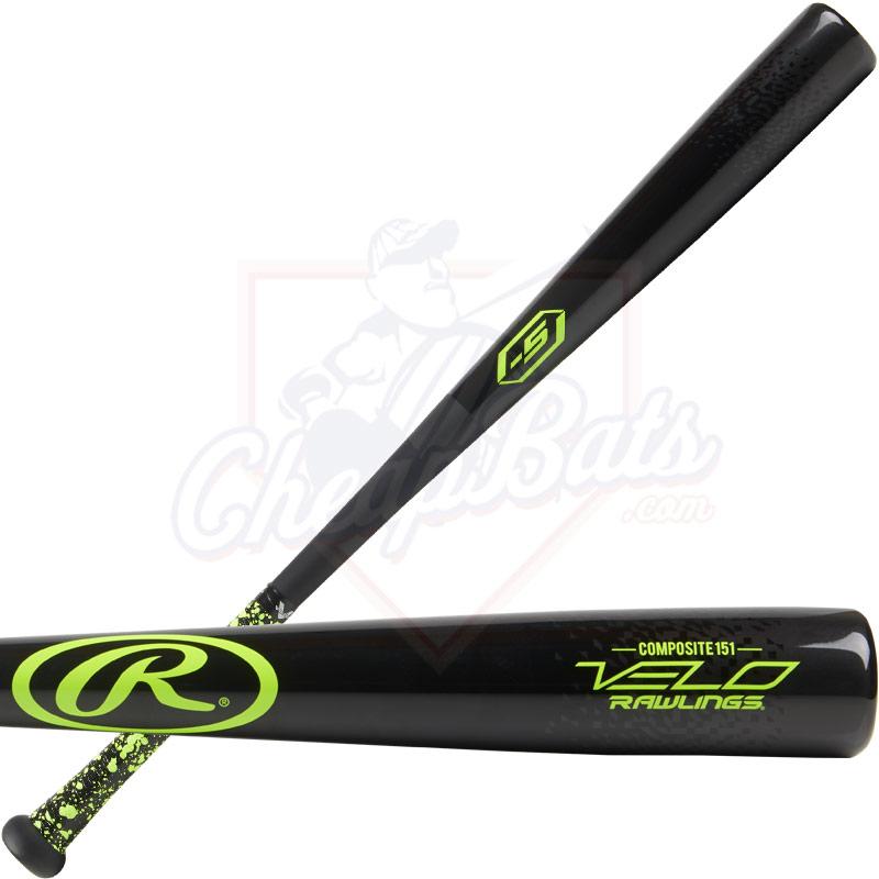 Rawlings Velo Wood Composite Youth Big Barrel Baseball Bat -5oz Y151CV