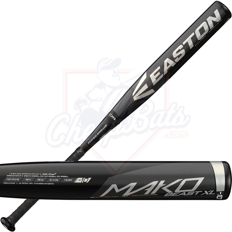 2017 Easton Mako Beast XL Youth Baseball Bat -10oz YB17MK10