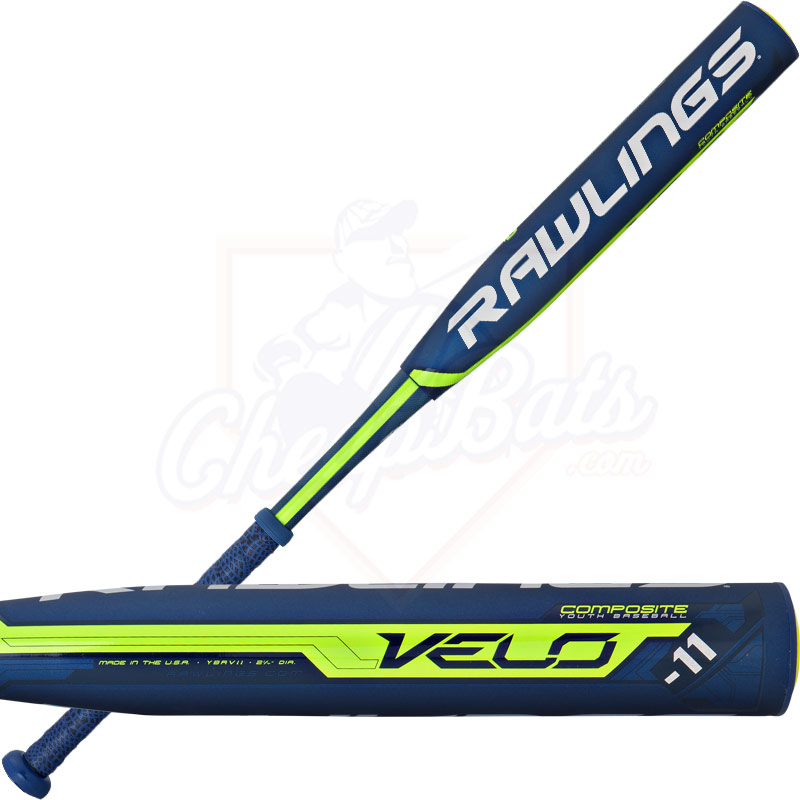 2016 Rawlings Velo Youth Baseball Bat -11oz YBRV11