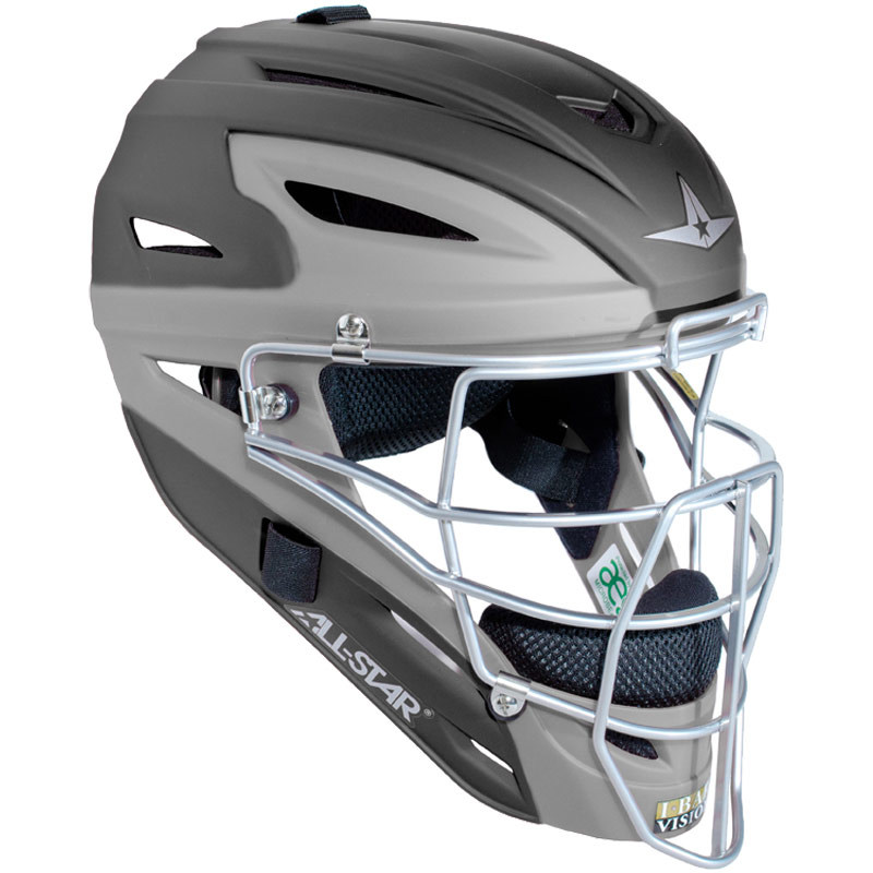 All Star Two Tone Catchers Helmet MVP2500MTT with Matte Finish - Adult