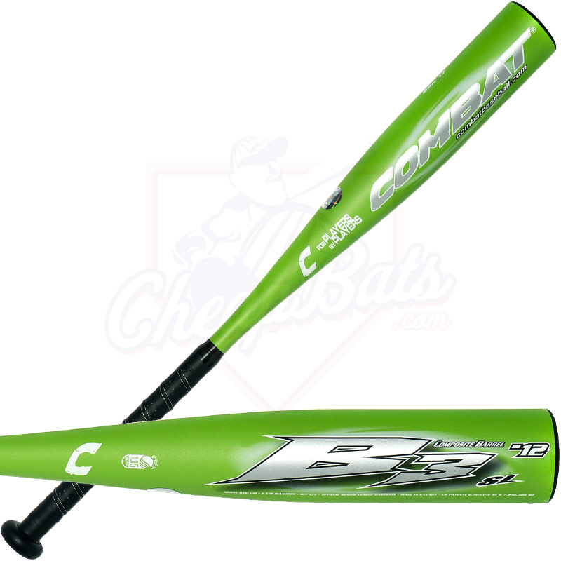 Combat B3 Senior League Baseball Bat -12oz. B3SL1-12