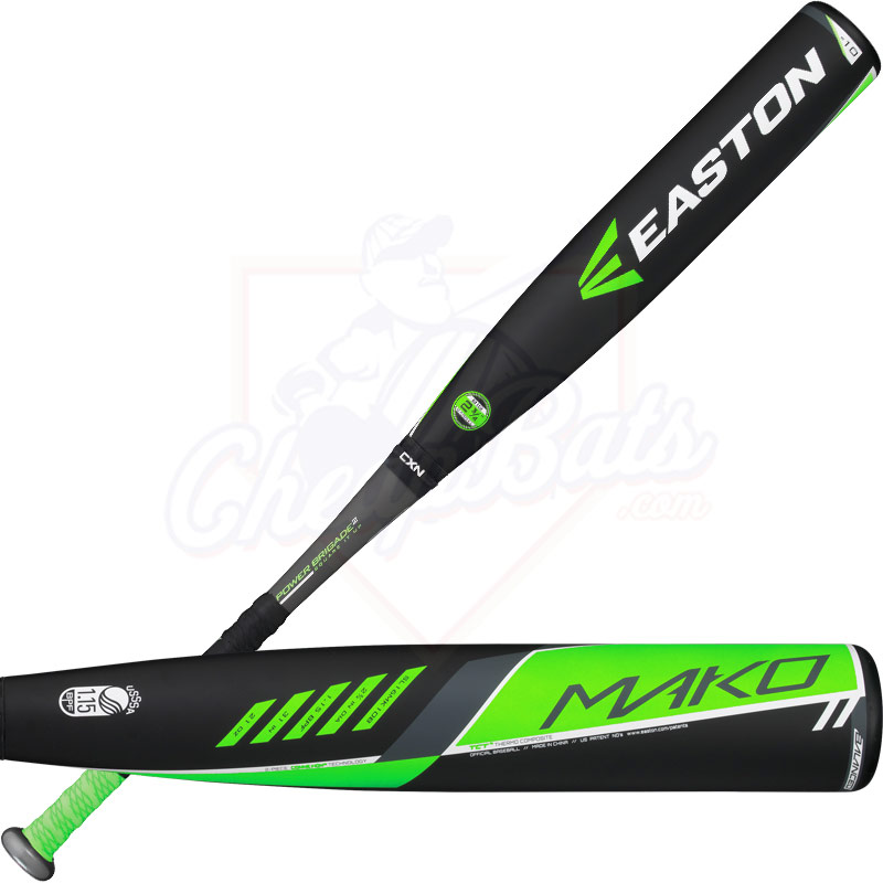 "2016 Easton MAKO Youth Big Barrel Baseball Bat 2 3/4"" -10oz SL16MK10B"