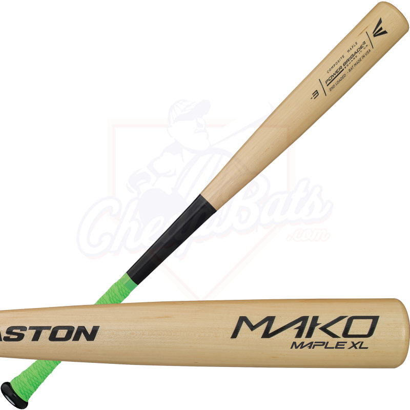 Easton MAKO MAPLE XL Wood Baseball Bat -3oz A110226