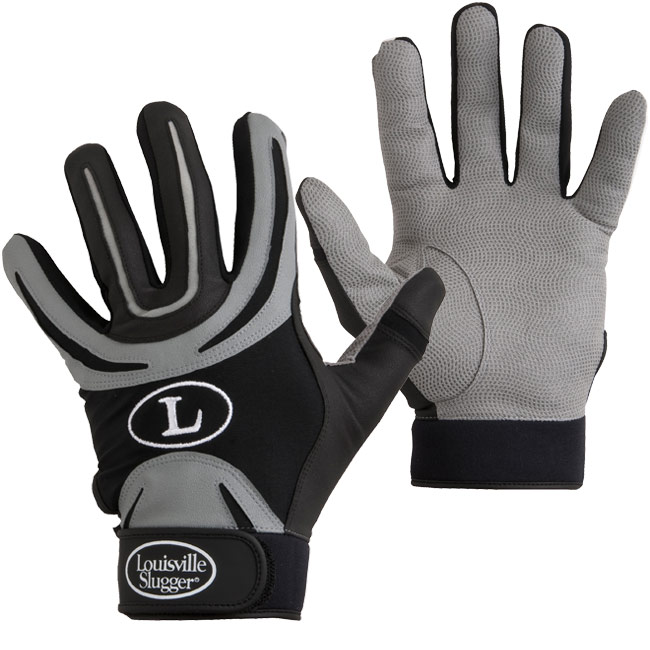 Louisville Slugger Genesis 1884 Series Batting Gloves (Youth Gray/Black Pair) BG44Y