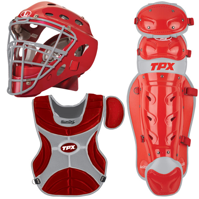 how to put on catchers gear