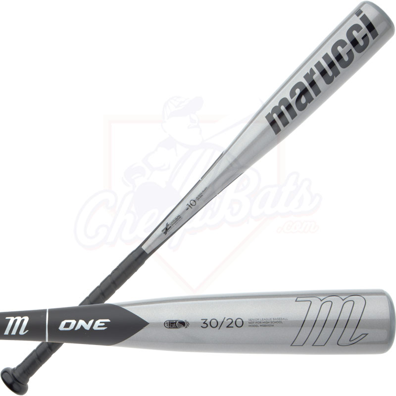 2014 Marucci One Senior Big Barrel Baseball Bat Black MSBX1014 -10oz