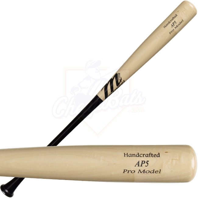 Marucci Albert Pujols Pro Model Wood Baseball Bat Black-Natural - AP5BN