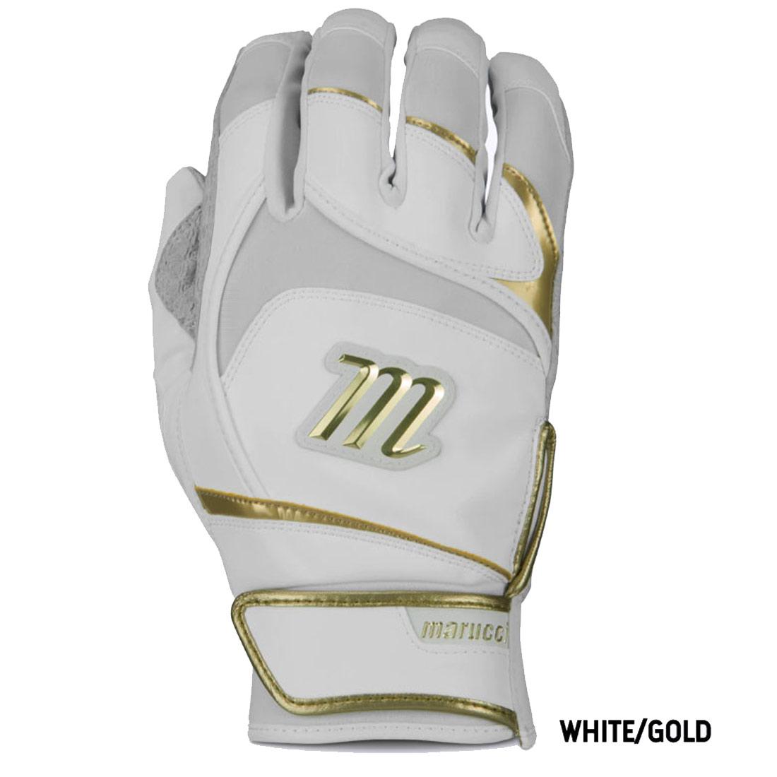 Signature Baseball Batting Gloves White//White Large