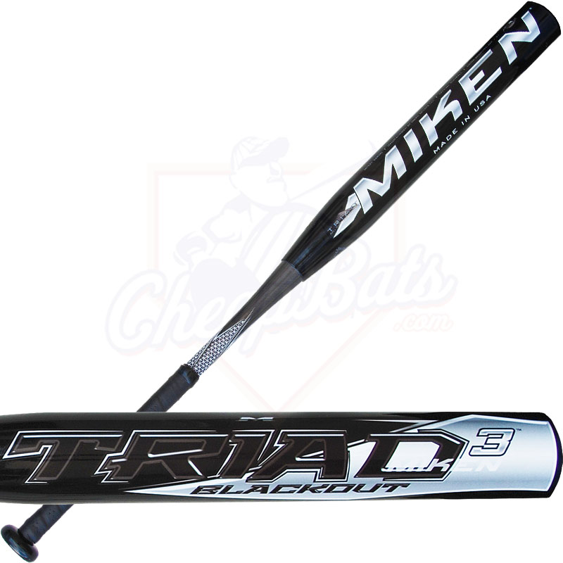 2014 Miken TRIAD 3 BLACKOUT SSUSA Slowpitch Softball Bat SSBTRI