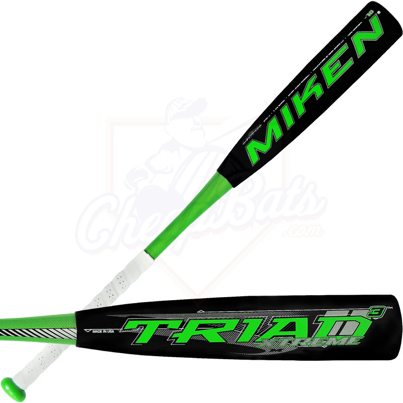 2014 Miken TRIAD 3 XTREME Senior League Baseball Bat -10oz STRD10