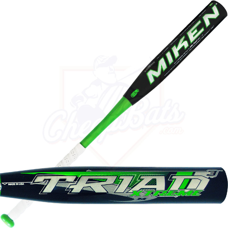 2014 Miken TRIAD 3 XTREME Youth Baseball Bat -10oz YTRD10