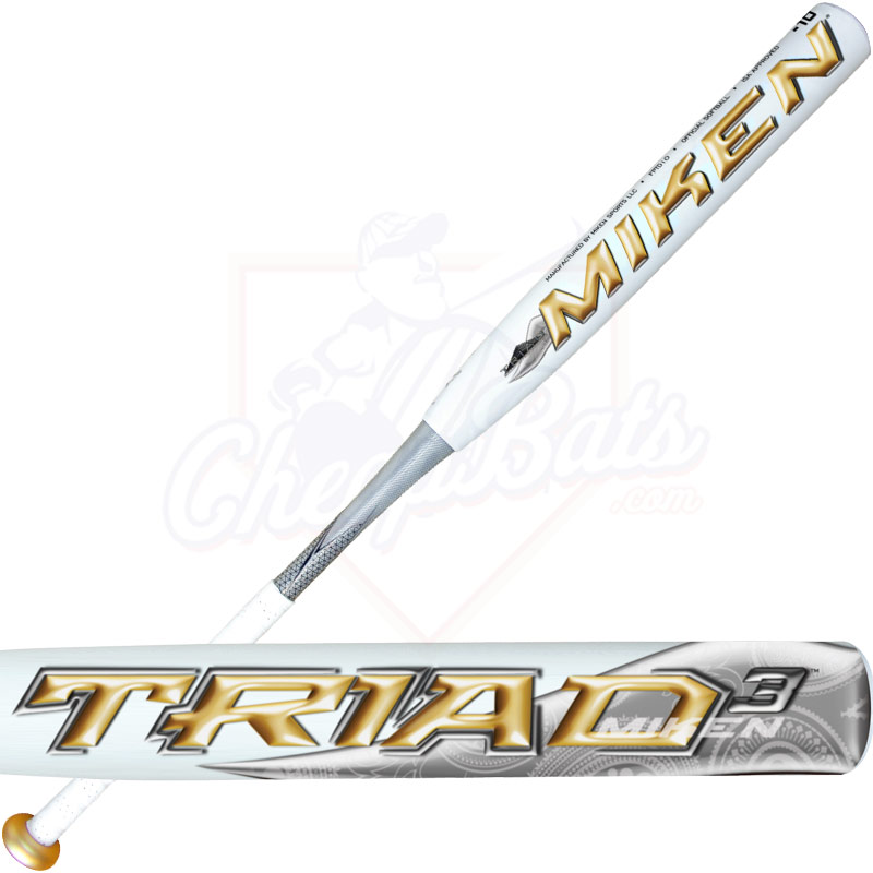 2013 Miken TRIAD 3 Fastpitch Softball Bat -10oz. FPTD10