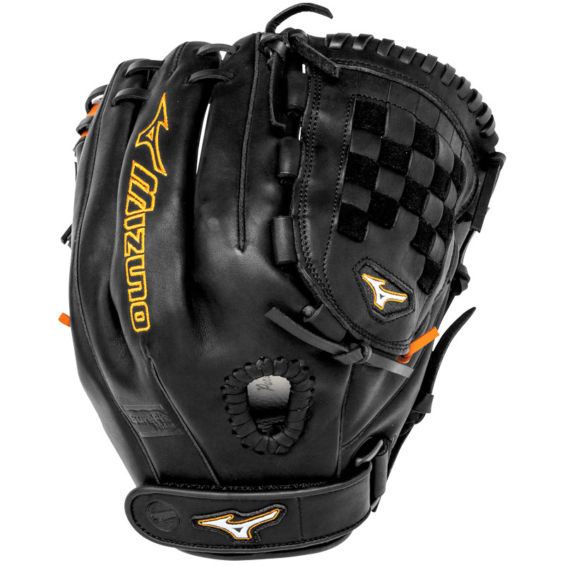 "Mizuno MVP Prime SE Fastpitch Softball Glove 12"" Black/Orange GMVP1250PSEF1"