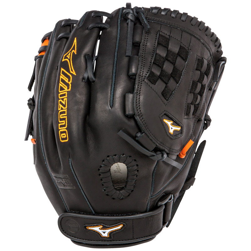 "Mizuno MVP Prime SE Fastpitch Softball Glove 12.5"" Black/Orange GMVP1250PSEF1"