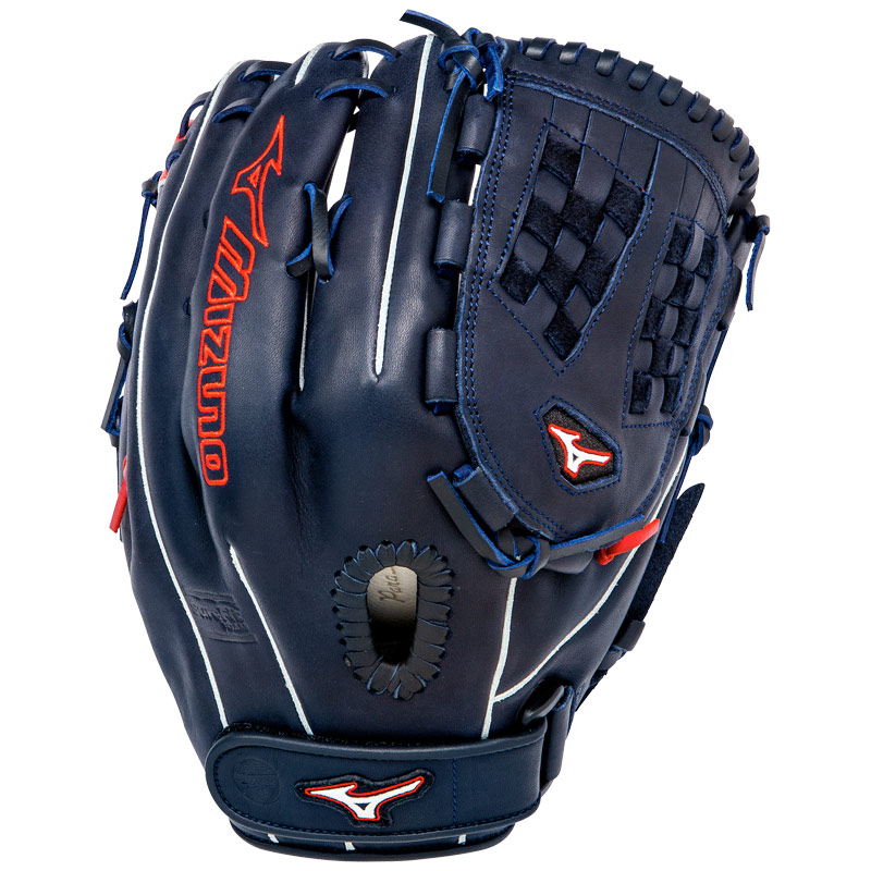 "Mizuno MVP Prime SE Fastpitch Softball Glove 13"" Navy/Red GMVP1300PSEF1"