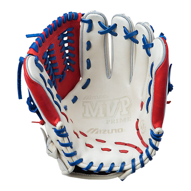 "Mizuno MVP Prime SE Series Baseball Glove 11.5"" Silver/Red/Royal GMVP1154PSE"