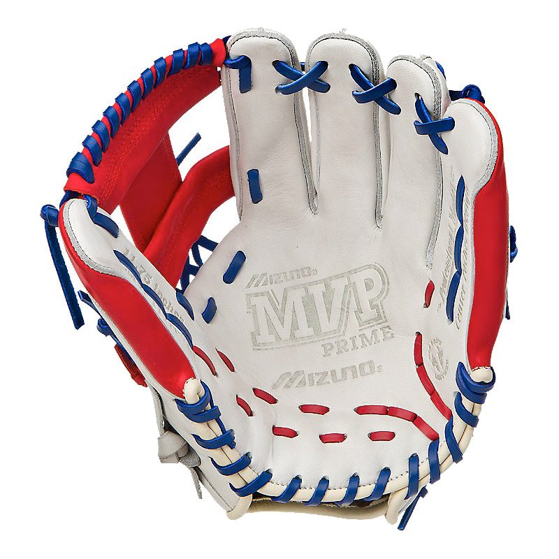 "Mizuno MVP Prime SE Series Baseball Glove 11.75"" Silver/Red/Royal GMVP1177PSE"