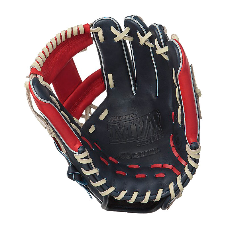 "Mizuno MVP Prime SE Series Baseball Glove 11.75"" Navy/Red GMVP1177PSE"