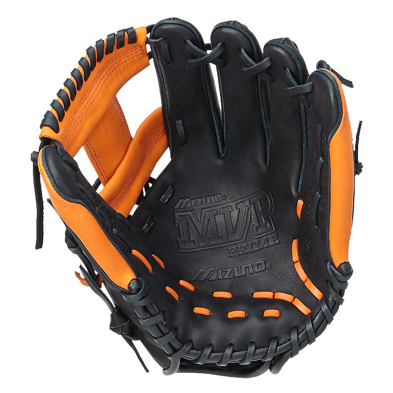 "Mizuno MVP Prime SE Series Baseball Glove 11.75"" Black/Orange GMVP1177PSE"
