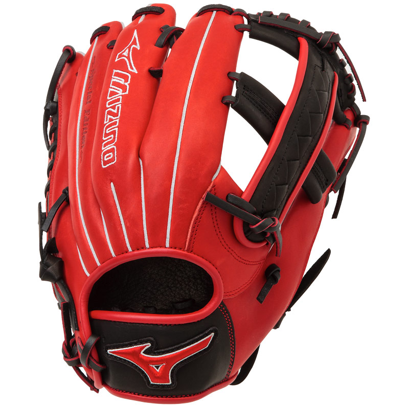 "Mizuno MVP PRIME SE Slowpitch Softball Glove 12.5"" Red/Black GMVP1250PSES4"